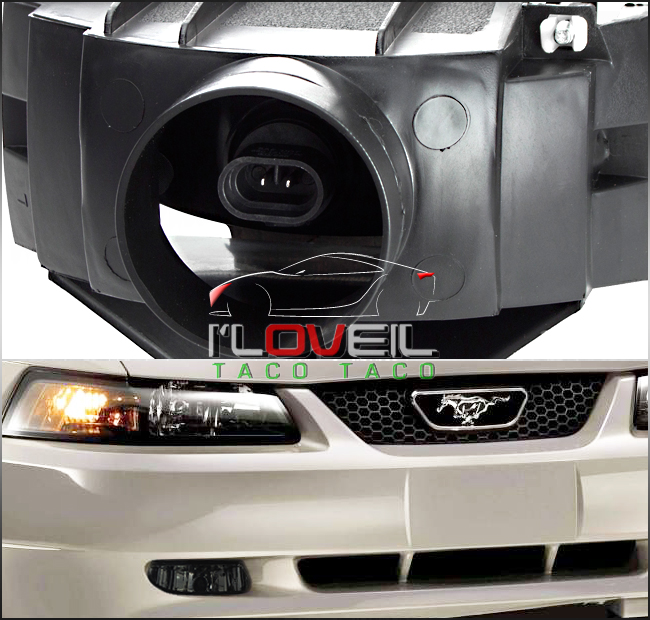 1999 2004 Ford Mustang V6 Gt Smoked Lens Replacement Fog